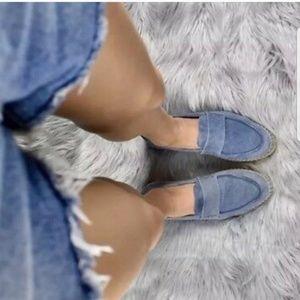 VINCE Daria Suede Espadrilles Slip On Loafer Shoes